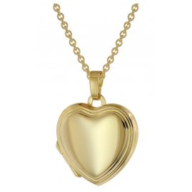 trendor 39636 Heart Locket Gold 333 (8 ct) with Gold-Plated Silver Necklace