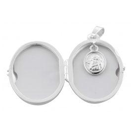 trendor 39664 Medaillon mit Engel-Einhänger und Halskette Silber 925