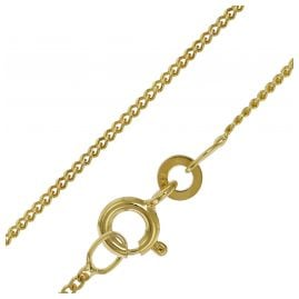 trendor 39699 Halskette für Anhänger Gold 333 Flachpanzer-Kette 1,2 mm