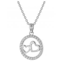 trendor 51025 Silberschmuck Halskette mit Herz-Anhänger 925 Silber