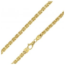 trendor 51325 Byzantine Chain Necklace Gold On Silver 925 Width 4.7 mm