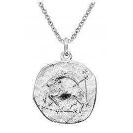 trendor 51610-01 Sternzeichen Steinbock Ø 20 mm und Halskette 925 Silber