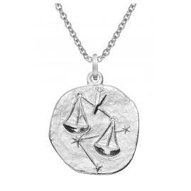 trendor 51610-10 Sternzeichen Waage Ø 20 mm und Halskette 925 Silber