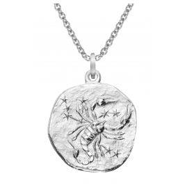 trendor 51610-11 Zodiac Sign Scorpio Ø 20 mm and Necklace 925 Silver