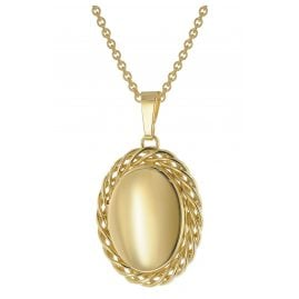 trendor 51590 Locket Necklace Gold Plated Silver 925