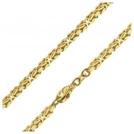 trendor 51570 Königskette Collier Gold auf 925 Silber 2,8 mm Breite