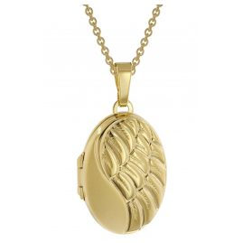 trendor 51718 Ladies' Necklace with Wing Locket Silver 925 Two-Colour