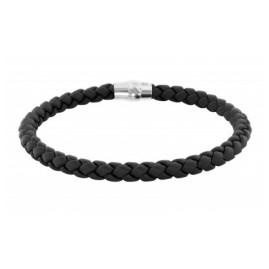 trendor 81699 Herren-Armband Schwarzes Geflecht Magnetschließe