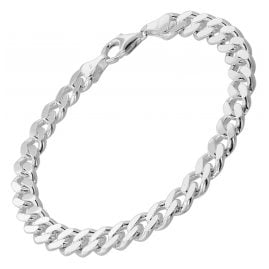 trendor 85895 Bracelet For Men 925 Sterling Silver Curb Chain Massive 8,2 mm