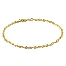 trendor 50521 Bracelet Women 333 Gold Singapore 2.4 mm