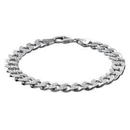 trendor 08640 Armband für Männer 925 Silber Panzerkette Breite 9,7 mm