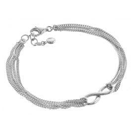 trendor 08760 Unendlichkeit 4-reihiges Armband für Frauen Silber 925