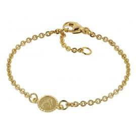 trendor 75090 Bracelet for Babies Gold 333/8 ct with Angel Plate 14 cm
