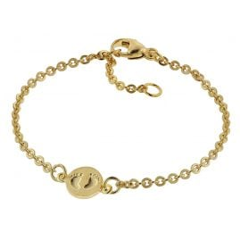 trendor 75092 Bracelet for Babies 333 Gold/8 ct Plate with Footprints 14 cm