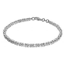 trendor 75236 Armband Königskette Sterlingsilber 925 Stärke 3,3 mm