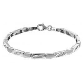 trendor 75589 Armband für Damen Silber 925 Zirkonia