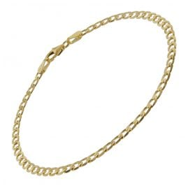 trendor 75652 Curb Bracelet for Women Gold 333 (8 Carat) 19 cm