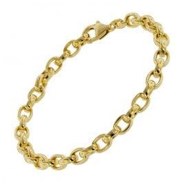 trendor 75662 Armband für Damen Erbsmuster Silber Vergoldet 19 cm