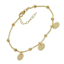 trendor 75670 Bracelet for Young Ladies' Gold Plated Silver