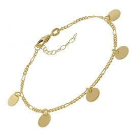 trendor 75671 Bracelet for Young Ladies Gold Plated Silver