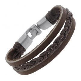 trendor 75802 Leather Bracelet Brown