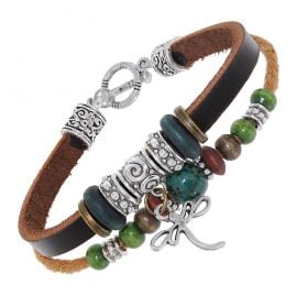 trendor 75805 Unisex Leather Bracelet Brown