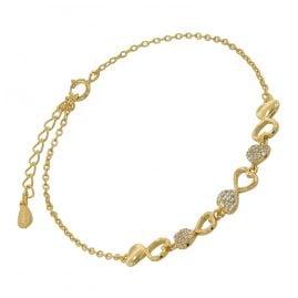 trendor 75850 Damen-Armband Gold auf Silber Herz Zirkonias