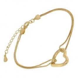 trendor 75851 Women's Bracelet Gold Plated Silver Heart