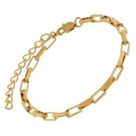 trendor 75881 Bracelet Gold Plated Steel Wide Anchor Chain