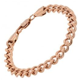 trendor 75894 Ladies Bracelet Stainless Steel Rose Gold Plated 16 cm
