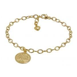 trendor 51176 Mädchen-Armband mit Lebensbaum 925 Silber vergoldet 18 cm