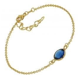 trendor 51182 Ladies' Bracelet Gold Plated Silver 925 Dark Blue Quartz