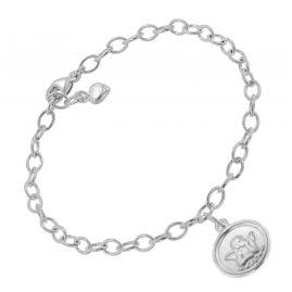 trendor 51201 Armband mit Engel-Anhänger 925 Silber 17 cm