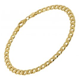 trendor 51320 Curb Bracelet Gold Plated Silver 925 Width 5 mm