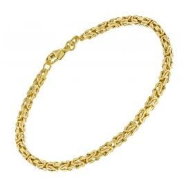 trendor 51322 Armband Königskette Silber 925 vergoldet Breite 3,2 mm