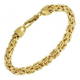 trendor 51324 Armband Königskette Gold auf Silber 925 Breite 4,7 mm