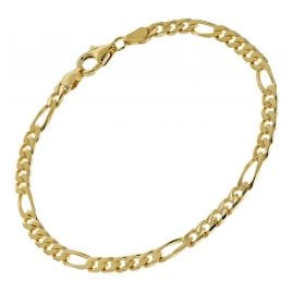 trendor 51398 Armband Gold auf Silber 925 Figaro Breite 4,3 mm