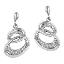 trendor 64970 Silver Drop Earrings with Cubic Zirconia