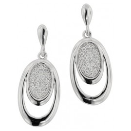 trendor 65144 Silver Drop Earrings with Cubic Zirconia
