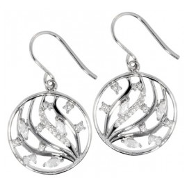 trendor 69746 Silver Women's Drop Earrings Cubic Zirconia