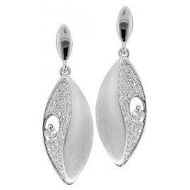 trendor 69777 Women's Drop Earrings Silver 925 Cubic Zirconia