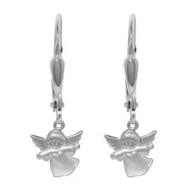 trendor 72702 Silver Earrings Angels