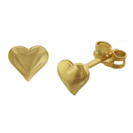 trendor 35737 Gold Earrings Hearts