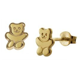 trendor 35739 Teddy Bear Gold Earrings