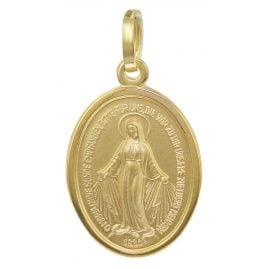 trendor 35771 Madonna Milagrosa Gold-Anhänger 8 Karat 16 mm
