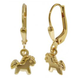 trendor 35807 Gold Kinder-Ohrringe Pony
