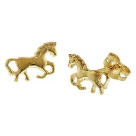 trendor 35809 Kids Earrings Horse Gold 333