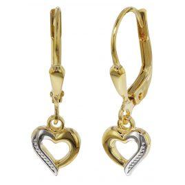 trendor 35816 Kinder Gold-Ohrhänger mit Herzchen