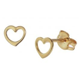 trendor 35818 Kids Gold Earrings Heart