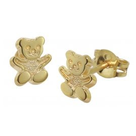 trendor 08486 Kinder-Ohrstecker Teddy 333/8 Karat Gold